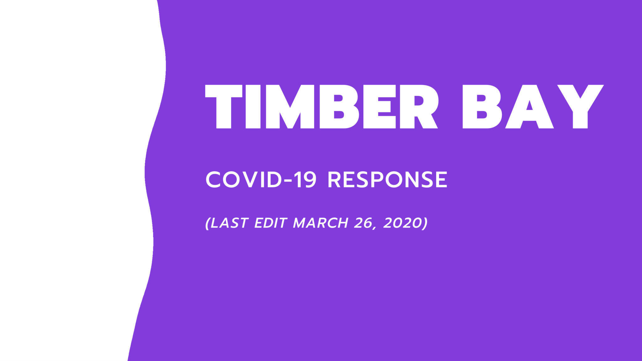 Timber bay COVID-19 Plan